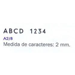 IMPRENTILLA LETRAS Y NUMEROS TELOS A2/8